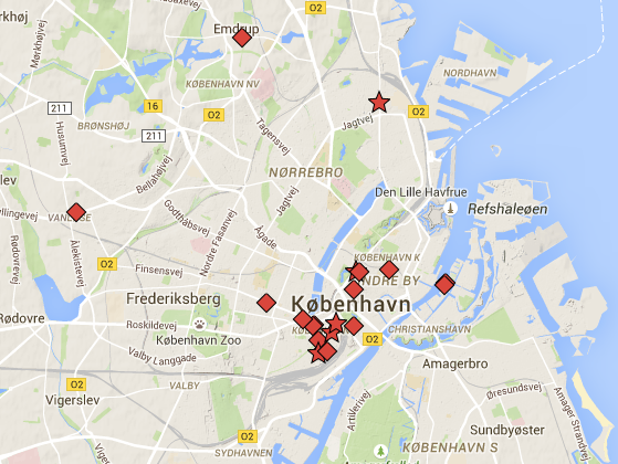 Copenhagen Kimchi Map